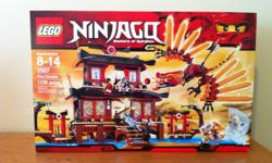 Brand new in the box, Ninjago, Masters of Spinjitzu, Fire Temple. This was an impossible item to find in our region. I had a couple of sets shipped in from the US. I am not a business. It was on the top of my son's Christmas list and I thought I'd help