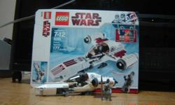 Lego Star Wars: Freeco Speeder #8085 177 pieces comes Pre-Assembled but I can take it apart if you so wish. I got it as a gift and put it together once.   Check out my other ads: