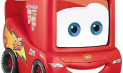 Disney Pixar's Cars The Movie 13 inch TV/DVD Combo Unit features: This TV has both an analog and ATSC tuner and will not require a converter box Built in DVD/CD Player Custom Disney on-screen menu Headphone output Lightning McQueen Design