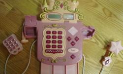 I have a Like New Electronic Princess Cash Register Toy Set for sale! This is in excellent condition and would look great in your child's room or to give as a gift. This is great for any child that wants to learn how to use a cash register and scan