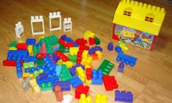 I have a Like New Mega Bloks Set with Storage Barn 84 Pieces for sale! This set is in excellent condition and would look great in your child's room or to give as a gift. Comes from a non-smoking household. Do not miss out on this excellent opportunity to