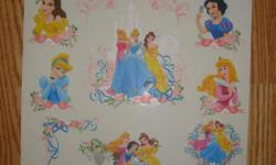 I have a Brand New Set of Princess Window or Mirror Stickers Removable for sale! This is in excellent condition and would look great in your child's room or to give as a gift. Comes from a non-smoking household. Do not miss out on this excellent