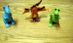 I have a Like New Set of 3 Dinosaurs - Great for play or bath time! These are in excellent condition and would look great in your child's room or to give as a gift. Comes from a non-smoking household. Do not miss out on this excellent opportunity to get