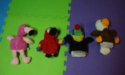 I have a Like New Set of 4 Hand Puppets for sale! This is in excellent condition and would look great in your child's room or to give as a gift. Comes from a non-smoking household. Do not miss out on this excellent opportunity to get this for a fraction