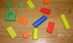I have a Like New Set of Spongy Learning Shapes! This is in excellent condition and would look great in your child's room or to give as a gift. Comes from a non-smoking household. Do not miss out on this excellent opportunity to get this for a fraction of