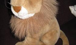 "All are in excellent condition, clean, smoke free home, no rips/stains/smells Pic 1-Stuffed lion $5 Pic 2- Tiger with rattle/growler inside (non battery operated) $5 Pic 3-""fancy"" Tiger with satin bow $5 Pic 4-Classic teddy bear, needing a hug! $5 Pic"