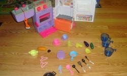 I have a Like New Toy Fridge with Accessories for sale! This is in excellent condition and would look great in your child's room or to give as a gift. Comes from a non-smoking household. Do not miss out on this excellent opportunity to get this for a