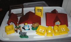 Set of Lincoln logs. $10 (storage bin not included)