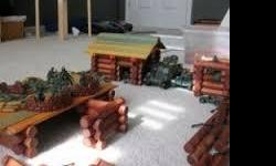 Everybody's gotta do some building with the Lincoln Logs! Good condition from a pet free smoke free home. Some pieces missing and comes in a box, not the bin you see in photo. But this includes a canoe, a cowboy and more . . . can't remember exactly.