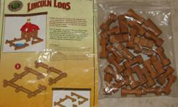 Lincoln Logs & Instruction Wood Piecies $3.50 lot   From a smoke free Home (not a store) All 400+ of my Kijiji items ARE available if still listed. Email to arrange an afternoon/evening pick up. See Kijiji map link for approx. location. Please click on