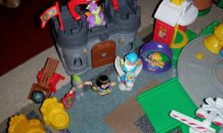 Huge lot of Little People sets. Each set has all accessories and all are in excellent condition, most are like new. There is also addition little people added to the collection. Would like to sell as one, would cost well over $200.00 new. Missing from