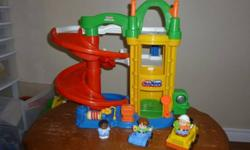 Several Little People sets for sale. My kids are saving up for new DS's so they are clearing out their toys...... Pic 1 - garage - includes 3 people, tow truck and car $20 Pic 2 - 2 firetrucks with firemen, and police car with sounds and policeman $8 PIc