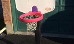 Little Tikes Basketball Larger model, with wheels for easier moving Can extend to almost twice the height shown in picture $30