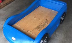 Great shape little tikes car bed! Comes with all hardware and board comes with crib mattress as well if wanted!