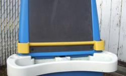 holds paper for drawing, use as a chalkboard, tray for paints or chalk.