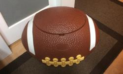 Little Tikes football toy box in very good condition. Would make an awesome cooler as well ... $30.00