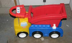 LOVE this toy!  Can be used as a ride-on, or walker or wagon.  Super sturdy, excellent condition.  Makes truck noises.  Would be a great Christmas gift.   North End St Catharines