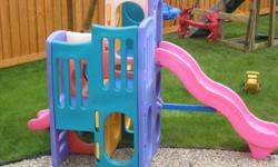 Little Tikes Playground. Kids ages 3-8 years. Faded slightly from sun. $150.00.