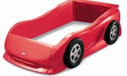 Little Tikes Red Race Car Bed, Twin Size, in excellent condition. Pick-up in Barrhaven.