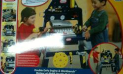 Won this and have no small children, sells for $69.99 on Little Tikes Site....see link below. Box has not even been open! This play work bench is a workshop for little craftsmen and a tool bench for new mechanics! The play tool set can be used to take