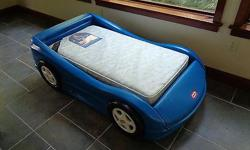 i have for sale a Little Tykes blue race car bed. it comes with a mattress.the bed is in excellent condition. $100,00 OBO