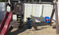 Maintenance free. In excellent condition. $550.00 firm. We have lowered the price twice now. We will not deliver as we are unable to transport. You must arrange pick up. Windsor Park Regina. Comes with additional swing to replace baby swing.