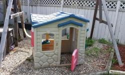 Outside play house, good condition. Reason for selling - children have outgrown play house.