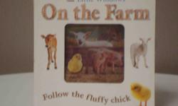 Children follow the fluffy chick in search of her mommy. See through windows give the illusion of being on the farm. Non-toxic. Excellent condition.