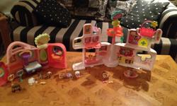 2 littlest pet shop play sets with everything shown in picture.