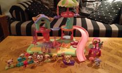 Littlest pet shop playground set with everything shown.