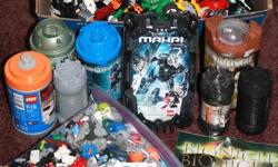 IF YOU ARE READING THIS AD THAN THE ITEM IS STILL AVAILABLE. I have here 3/4 of an office box full of bionicles still half togther plus a bag full of over  1000 pieces, plus 4 kits on the right side of photo & 4 empty containers on the left side.  Thanks