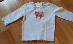 Sears - 6m white, with butterfly (lace wings)   George - 3-6m grey, with zebra   Disney - 6m two-tone purple Piglet   George - 3m (a little big) white with multi coloured hearts   George - 3-6m navy blue with pink hearts   from a smoke-free home Asking