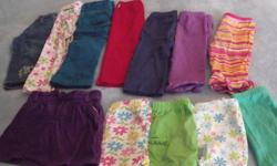 22 items (pants, capris, skirt, tops) and one 3 piece set.   All in great condition from a smoke free home. Mostly Old Navy, Childrens Place.   Lot Sells for $20 or $1 each or make an offer.   See our other lots (Lot 1, 3 and 4) Will meet in town during