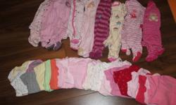 Lot of 9 3month sleepers 18 3-6months undershirts    All in good condition, Pekle, Carter, Gap and Childs Place