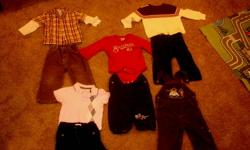 20-item lot of boy's clothing for fall/winter/spring.  Some items are like-new, some are decent play clothes, and show some signs of wear.  Willing to price individual items, or take them all for 30.  Items are from Joe Fresh, Children's Place, Baby Gap,