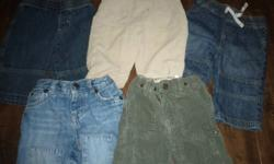 Smaller lot of 3-6 month boys clothes. Adorable denim jeans (3 pr) and corduroys (2 pr). Also includes onesies, jammies and sweatshirts. From clean smoke-free home.