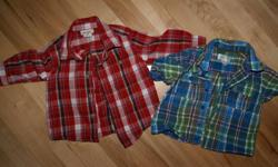 I am selling all the clothes shown as a lot for 40.00... no rips or stains from smoke and pet free home.. a variety of brand name and cheap clothes. These are for 12 months and 12-18 months   PM for more details will accept offers ... no low ball offers