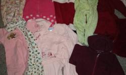 The majority of items are for 12 months of age (some are 6-12 months, and others are 12-18 months), all are clean and in quite good condition from a non-smoking and no-pet house. Included are: ? 4 fall/winter pajamas ? 2 shirts, pants and skirt that all