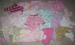 Big lot of girl clothing 0-3 months. All in great condition. From smokefree home. Includes 2 swaddle blankets. Please just make a reasonable offer :) Pick up is in Airdrie. Thanks:)