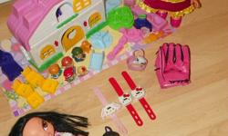 Doll house, Dora, Bratz and a few other misc. items as shown.  $10 takes all!