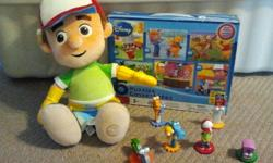 Lot of HANDY MANNY Disney Toys IN NEW CONDITION Plush Handy Manny 6 of him and his tool friends 6 Puzzles (2 Handy Manny and 4 are Pooh and Mickey)   Comes from pet and smoke free home $10.00 OBO   Would make your little Handy Manny fan a great Christmas