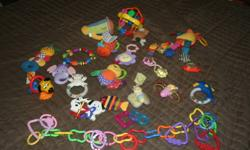 Lot of infant toys come from smoke free home! Great shape!! $15   Or i will sell seperate toy sfor $2 a piece! make me an offer i just want them gone!!!