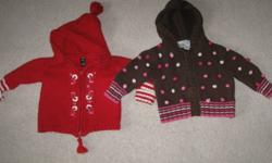 We have a lot of little girls clothing.  A couple of the sweaters are gently used, everything else in excellent condition.  The lot includes 7 sweaters, 2 pairs of cords, young hearts grey shirt and 4 jackets.  $30 for the lot.  We are a pet free/smoke