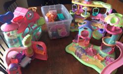 Gently used group of Littlest Pet Shop toys. 40+ animals & accessories 4 Main Play structures All toys are shown in the pictures. Non-smoking home. Perfect for daycare.