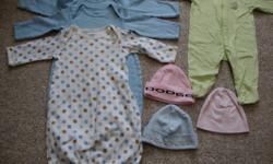 I am selling a bunch of baby boy clothes. sizes newborn - 12 months. There are 56 articles of clothing including, sleepers, pj's, outfits, hat, scratch mittens. All items are in good condition with out stains. The price is $10 for the whole lot. Any