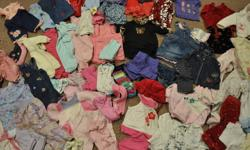 -I have a box full of baby girl clothes in great shape. I only kept the good stuff! Lots from The Children's Place and Please Mum etc.. sizes vary from 0-12months mostly the 6-9 month age. There are 75 items so I'm asking $50 less than $1 per item!   -I