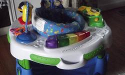 Graco Swing. 6 Speeds, music, timer, and mobile. Asking...$30 Also have the matching stroller, infant car seat and base for the car that matches the swing! Asking....$80 If you want all 4 matching pieces I will give all 4 for $100!   Leap Frog Exersaucer.