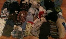 I am selling an assortment of infant boy items. Some of the items are winter boots, rain boots, hats, socks, pants, shirts, sleepers, 2 snowsuits, a bunting bag for the car seat and other items. I have pictures of some of the items but there is another