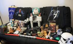 Lots of Star Wars stuff   The pictures is some but not all of the stuff.   We want to sell it all as a group not individual pieces Have it all for 600.00 OBO plus shipping if not in Grande Prairie, Edmonton area   some items are episode battle for naboo