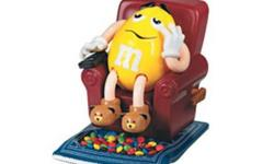 M&M La-Z-Boy Recliner Candy Dispenser   It has Yellow M&M seated in his La-Z-Boy with his remote in hand ready for a serious night of tv watching.   This is definitely a collectible item for anyone who loves M&M's or their La-Z-Boy. It was a limited